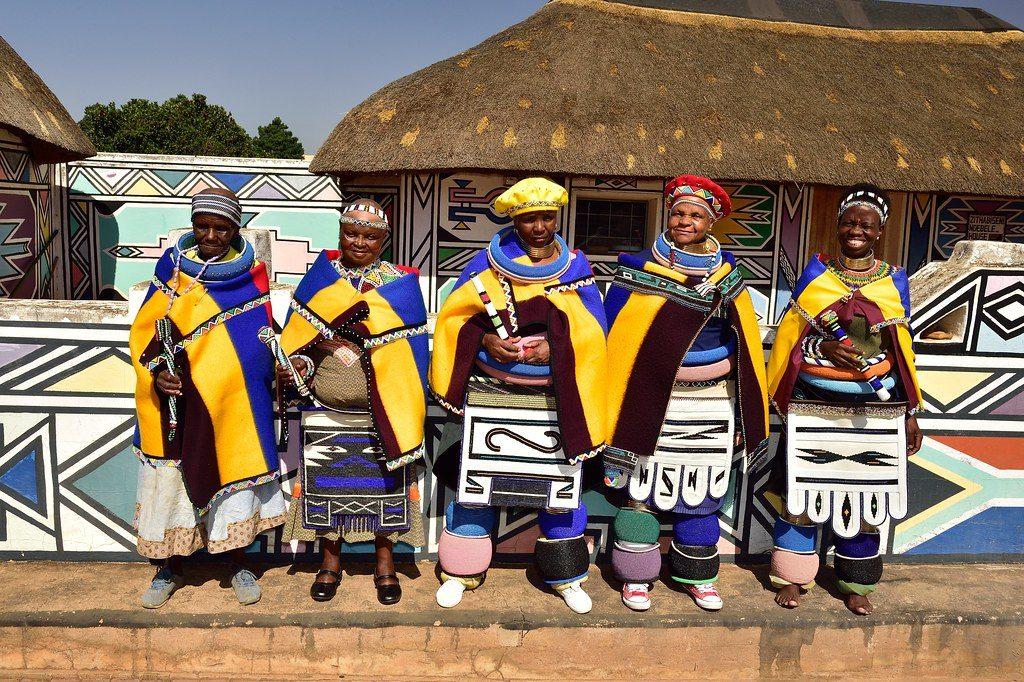 Village Ndebele en Afrique du Sud