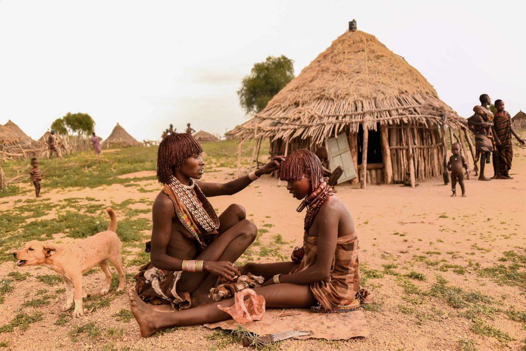 Village Hamer en Ethiopie - Vallée de l'omo