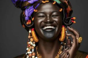 Femme wolof, Sénégal