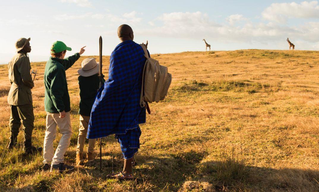 famille dans le parc du Ngorngoro