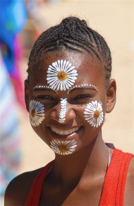 Peinture sur visage malgache